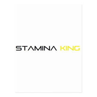 STAMINA KING LOGO POSTCARD