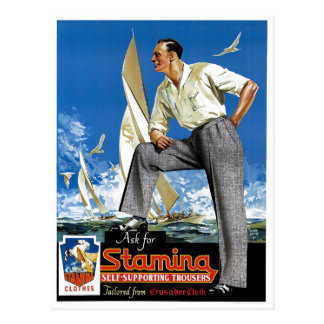 Stamina Self-Supporting Trousers Postcard