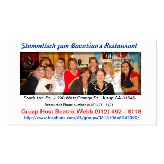 stammtisch zum Bavarian's Restaurant Business Cards