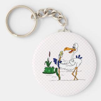 Stammy Stork Basic Round Button Keychain