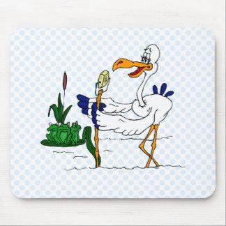 Stammy Stork Mouse Pad