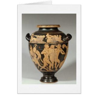 Stamnos, Dionysiac scene, Etruscan red-figured per Card