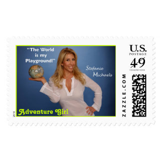Stamp4 psd Adventure Girl Postage Stamp
