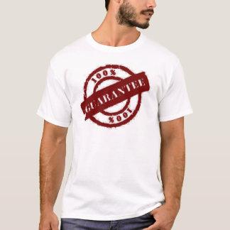 stamp 100% gurantee red T-Shirt