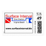 Stamp, 24c postcard with Surface Interval logo