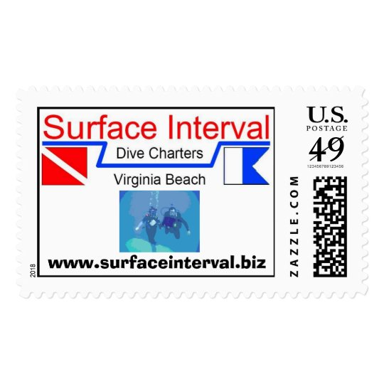 Stamp, 39c with logo & couple scuba diving postage stamp
