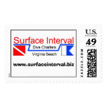 Stamp, 39c with Surface Interval logo