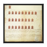 Stamp Act 1765 One Penny Stamp Proof Sheet Stretched Canvas Prints