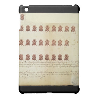 Stamp Act 1765 One Penny Stamp Proof Sheet iPad Mini Cover
