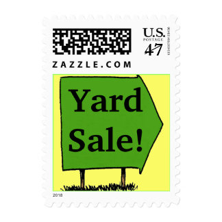Stamp Announcements Stamps Sign Yard Sale Promote