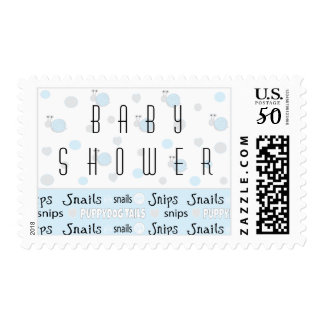 """Stamp Baby Shower Custom """"Snips and Snails"""""""
