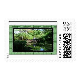 Stamp-Beautiful Garden Setting Postage