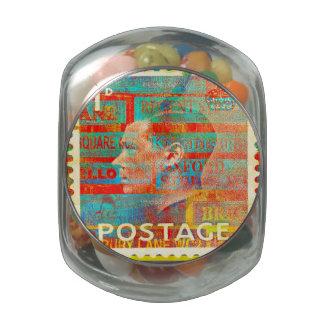 Stamp Glass Candy Jars