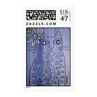 Stamp--Cat's Got the Blues Postage