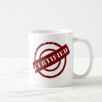 stamp certified red coffee mugs