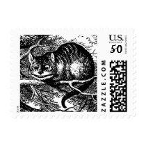 Stamp- Cheshire Cat Postage