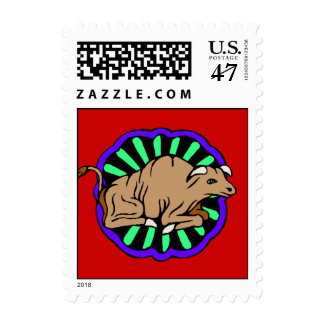 Stamp Chinese Year Of The Ox Oxen within Zodiac