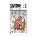 stamp Christmas house