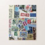 Stamp Collage Artwork Puzzles