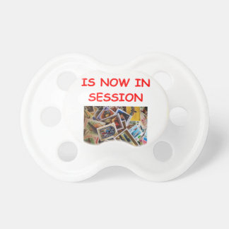 stamp collecting BooginHead pacifier