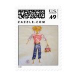 Stamp - Fashion Stick Figure