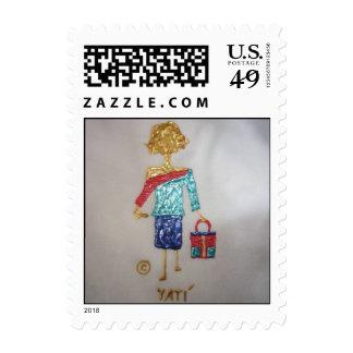 Stamp- Fashion Stick Figure Stamp