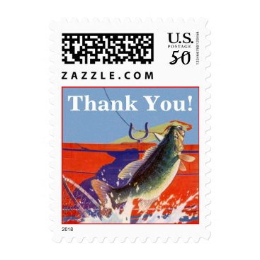 Professional Business Stamp Fishing Fish On Thank You! Guide Service Res