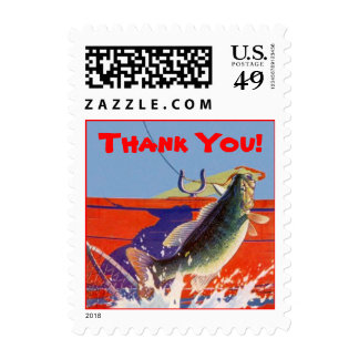 Stamp Fishing Fish On Thank You! Guide Service Res
