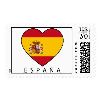 "Stamp for Champs: Spain Heart + black ""ESPAÑA """