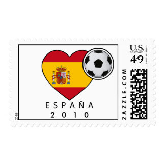 Stamp for Champs: Spain Heart + ESPAÑA 2010