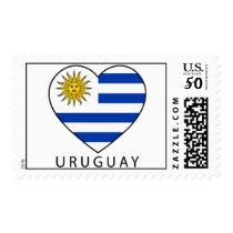 "Stamp for Champs: Uruguay Heart   black ""URUGUAY """