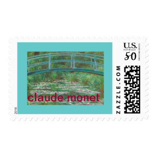 Stamp from Claude Monet The Japanese Footbridge