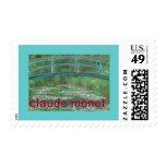 Stamp from Claude Monet The Japanese Footbridge