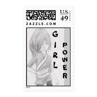 stamp GIRL, POWER