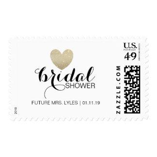 Stamp - Glitter Heart Fab Bridal Name