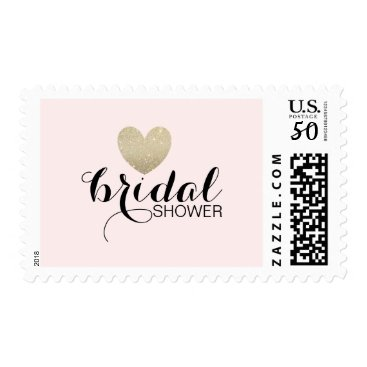 Valentines Themed Stamp - Glitter Heart Fab Bridal Shower