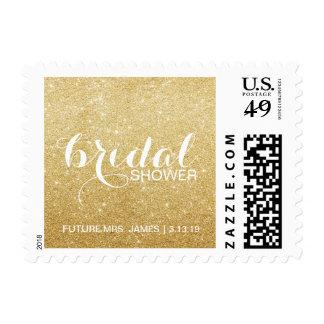 Stamp - Golden Glit Bridal Shower