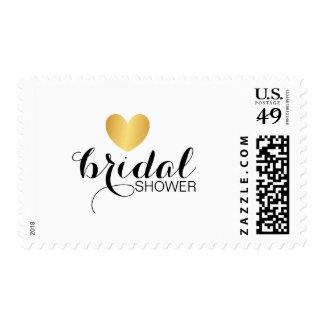 Stamp - Golden Heart Fab Bridal Shower