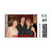 Stamp, Happy Holidays Postage
