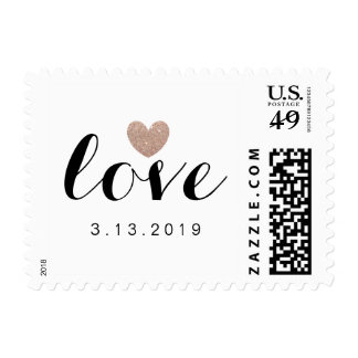 Stamp - Heart Fab Bride to Be Rose
