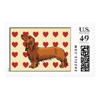 Stamp - I love Dachshunds