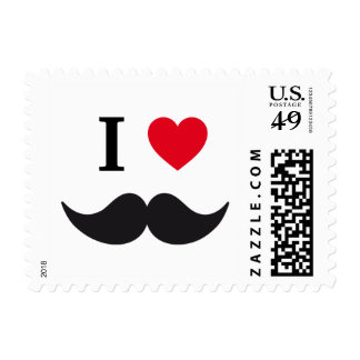 Stamp I love mustache