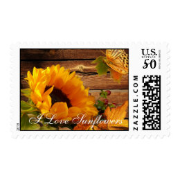 Stamp I Love Sunflowers, Country Fall Flower