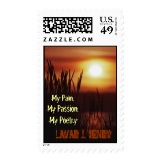 Stamp: My Pain, My Passion, My Poetry Postage Stamps