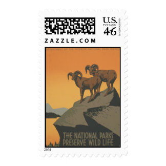 Stamp National Parks Preserve Wild Life