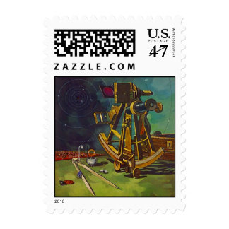 Stamp Nautical Navigation Sextant Celestial Positi