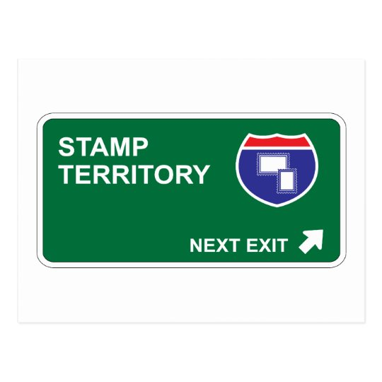 Stamp Next Exit Postcard