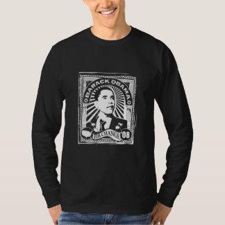 Stamp Obama Long Sleeve (Black) T-Shirt