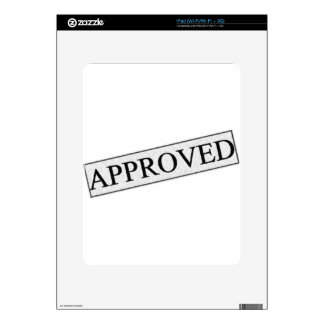 Stamp of Approval iPad Decals