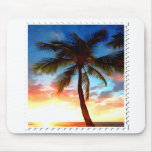 Stamp of Palm Tree Sunset Mousepad